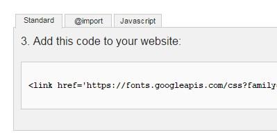 код для подключения шрифта к сайту