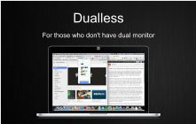 Dualless – программка для разделения окна браузера